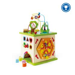 Hape Totally Amazing Ξύλινος Κύβος Δραστηριοτήτων Country Critters Play Cube E1810 6943478008915