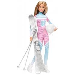 Mattel Barbie Κούκλα Σκιέρ Pink Passport Winter FDR57 887961475678