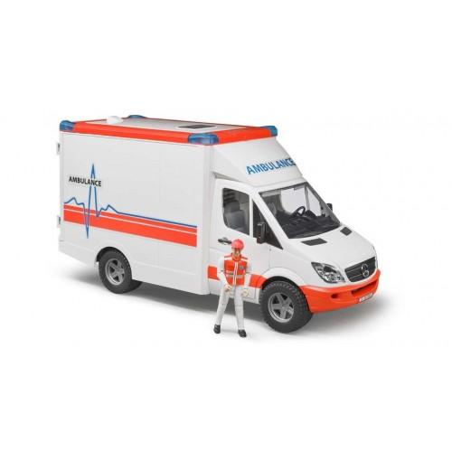 bruder Ασθενοφόρο με Οδηγό Mercedes Sprinter BR002536 4001702025366