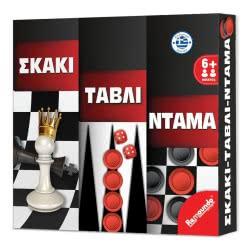 Remoundo Σκάκι-Τάβλι-Ντάμα Ελληνικό Προϊόν Σ.000.002 5204153000022