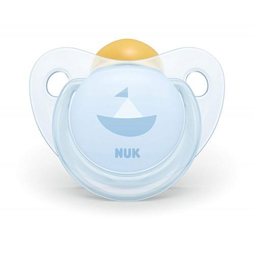 NUK Trendline Baby Rose And Blue Ορθοδοντική Πιπίλα Καουτσούκ Μπλε, 0-6 Μηνών - 2 Σχέδια 10725200 4008600284192