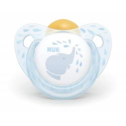 NUK Trendline Baby Rose And Blue Pacifier Latex, 0-6 Months - 2 Designs 10725200 4008600284192