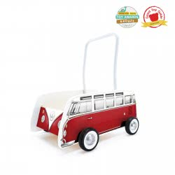 Hape Push & Pull Classical Bus Walker T1 Red E0379 6943478018433