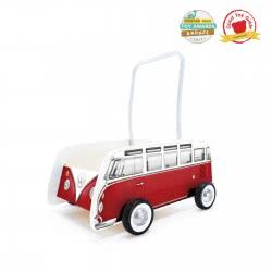 Hape Push & Pull Ξύλινη Στράτα Classical Bus Walker T1 Red E0379 6943478018433