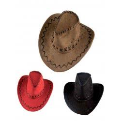 CLOWN Καπέλο Καουμπόη Suede Με Ραφές 3 Χρώματα 70666 5203359706660