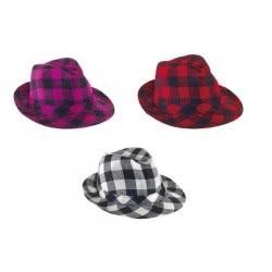 CLOWN Καπέλο Καβουράκι Καρώ 3 Χρώματα 71425 5203359714252