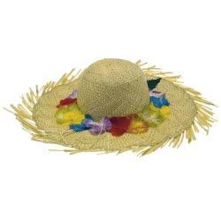 CLOWN Καπέλο Ψάθινο Με Λουλούδια 2 Χρώματα 74096 5203359740961