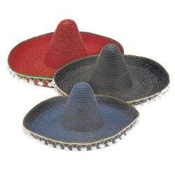 CLOWN Καπέλο Μεξικανού Ψάθινο Με Πον Πον 2 Χρώματα 79819 5203359798191