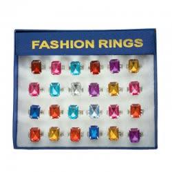 CLOWN Δαχτυλίδια Τετράγωνη Πέτρα Σε Κουτί 80581 5203359805813
