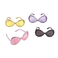 fun world Αποκριάτικα Γυαλιά Μάσκα Με Glitter Σε 4 Σχέδια 9346 0231670093461 0231670093461