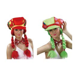 fun world Καπέλο Μ/2 Πλεξούδες 2 Χρώματα 3524 231670035249
