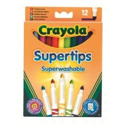 GIOCHI PREZIOSI Crayola 12 Λεπτοί Μαρκαδόροι Πλενόμενοι 03.7509 5010065075092