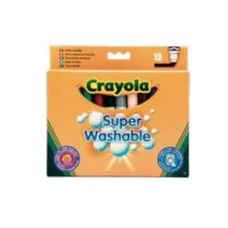 Crayola 12 Χοντροί Μαρκαδόροι Πλενόμενοι 03.8329 5010065083295