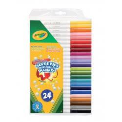 Crayola 24 Λεπτοί Μαρκαδόροι Πλενόμενοι 03.7551 5010065075511