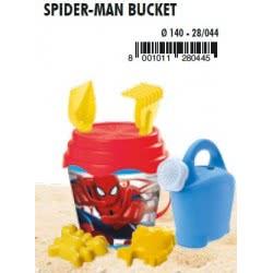MONDO Κουβαδάκι Spiderman 14Εκ Με Ποτιστήρι 28044 8001011280445