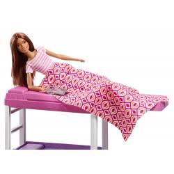 Mattel Barbie Δωμάτιο με Κούκλα, Κρεβάτι και Γραφείο - Loft Bed DVX51 / FXG52 887961690743