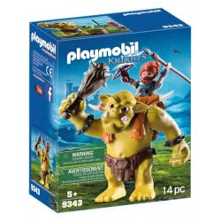 Playmobil Giant Troll with Dwarf Fighter 9343 4008789093431