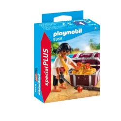 Playmobil Pirate With Treasure Chest 9358 4008789093585