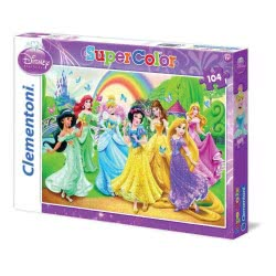 Clementoni Παζλ 104Τεμ Super Color Disney Princess Butterfly 1210-27856 8005125278565