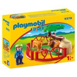 Playmobil Λιοντάρια Ζωολογικού Κήπου Με Περίφραξη 9378 4008789093783