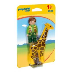 Playmobil Zookeeper With Giraffe 9380 4008789093806