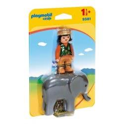 Playmobil Φύλακας Ζωολογικού Κήπου με Ελέφαντα 9381 4008789093813