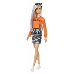Mattel Barbie Fashionistas 107 Κούκλα με Πορτοκαλί Μπλούζα Malibu FBR37 / FXL47 887961694543