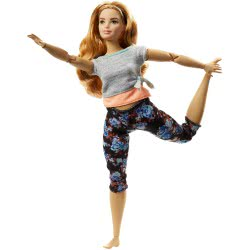 Mattel Barbie Made To Move - Curvy Doll With Auburn Hair FTG80 / FTG84 887961643770