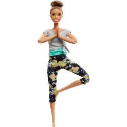 Mattel Barbie Αμέτρητες Κινήσεις - Μελαχρινή Με Κότσο στα Μαλλία FTG80 / FTG82 887961643763