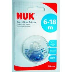 NUK Πιπίλα Trendline Adore σιλικόνης χωρίς κρίκο, μεγέθος 2 (6-18 μηνων) 10735725 4008600160953
