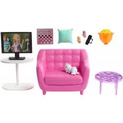Mattel Barbie Έπιπλα Εσωτερικού Χώρου - Καθιστικό Με Αξεσουάρ FXG33 / FXG36 887961690583