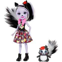Mattel Enchantimals Κούκλα και Ζωάκι Sage Skunk and Caper DVH87 / FXM72 887961695502
