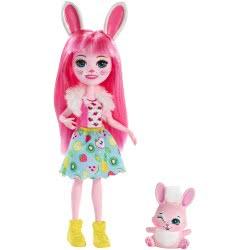 Mattel Enchantimals Κούκλα και Ζωάκι Bree Bunny and Twist DVH87 / FXM73 887961695526