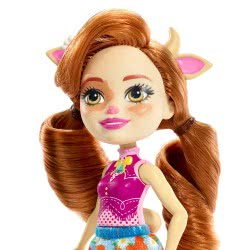 Mattel Enchantimals Κούκλα Cailey Cow και Ζωάκι Φιλαράκι Curdle FNH22 / FXM77 887961695557