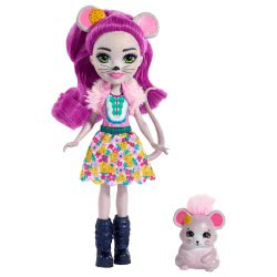 Mattel Enchantimals Κούκλα Mayla Mouse και Ζωάκι Φιλαράκι Fondue FNH22 / FXM76 887961695540