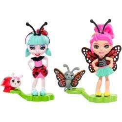 Mattel Enchantimals Ζουζουνάκια Φιλαράκια - Ladelia Ladybug Και Baxi Butterfly FXM86 / FXM87 887961695694