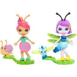 Mattel Enchantimals Ζουζουνάκια Φιλαράκια - Saxon Snail και Dara Dragonfly FXM86 / FXM89 887961695649