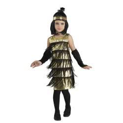 CLOWN Carnaval Costume Gold Flapper Νο. 08 88708 5203359887086