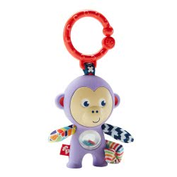 Fisher-Price Κουδουνίστρα Κρεμαστό Μαϊμού Με Μαλακές Υφές FWF49 / FFB64 887961481716
