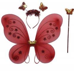 maskarata Fairy Wings, Cue And Stick 40X47 Cm - 4 Colours ΚΚ30732 6991201307323