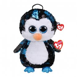 ty Plush Sequin Backpack Penguin Waddles 1607-95029 008421950294