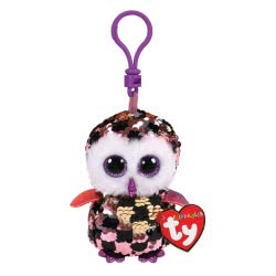 ty Flippables Sequin Pink Gild Owl Clip 8.5 cm 1607-35309 008421353095