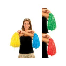 fun world Carnaval Pom Pom (Red, Green, Yellow, Blue) 42,5gr 7772-2 5212007556182