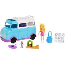 Mattel Polly Pocket Μίνι Τροχόσπιτο - Glambing Van FTP74 887961650136