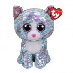 ty Flippables Χνουδωτό Sequin Γάτα Μπλε Ιριδίζουσα 23 εκ. 1607-36786 008421367863