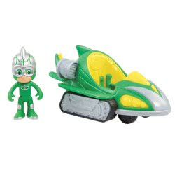 GIOCHI PREZIOSI PJ Masks - Πιτζαμοήρωες Οχήματα Turbo Blast Με Φιγούρα Gekko-Mobile PJM44500 8056379050179