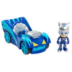 GIOCHI PREZIOSI PJ Masks Speed Booster Vehicle And Figure Cat-Car PJM60200 8056379059332