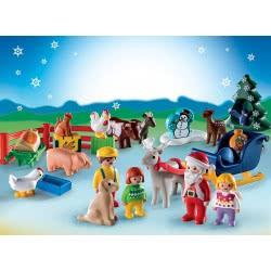 Playmobil 1.2.3 Advent Calendar Christmas On The Farm 9009 4008789090096