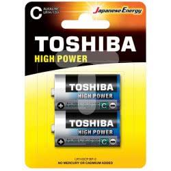 TOSHIBA Αλκαλικές μπαταρίες C High Power LR14 / 1.5 Volt 152651 4904530592522