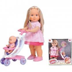 MG TOYS Κουκλα I-Dolls Λίλα και η αδερφούλα της Περπατώ και τραγουδώ με καροτσάκι 400702 5204275007022